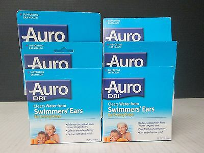 6 Auro Dri Swimmers' Ears Ear Drying Drops 1 Fl Oz Ea Exp 1/19 Ll 543