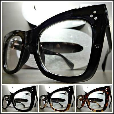 CLASSIC VINTAGE RETRO NERD GEEK Style Clear Lens EYE GLASSES Thick Fashion Frame