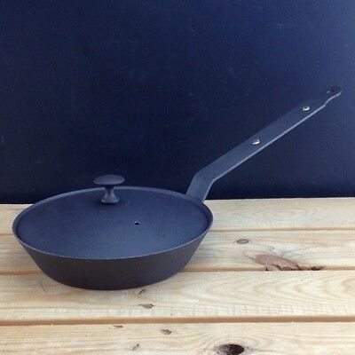 "Netherton Foundry 8"" (20cm) Oven Safe Spun Iron Sauté Frying Pan & lid"