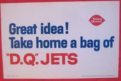 Dairy Queen 1965 transparency from Menu board TAKE HOME A BAG OF D.Q. JETS