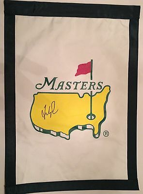 FRED COUPLES Signed MASTERS Golf Tournament FLAG 2017 Masters Pga