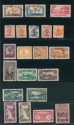 PRIOR TO 1940 Lebanon VARIOUS ISSUES AS SHOWN, CAT VALUE $60+