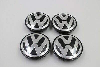 Vw Wheel Centre Caps 65Mm Standard Size Fit Golf Vehicles