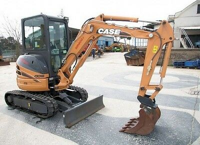 Case CX31B, CX36B Compact Hydraulic Excavator Workshop Repair Manual On Cd