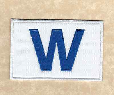 """⚾ CHICAGO CUBS 2016 World Series Champions """"W Flag"""" Iron-on Jersey/Hat PATCH!"""