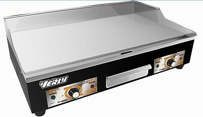 Electric Griddle Counter Top Flat Hotplate 73Cm 2 Burners 2 Plugs