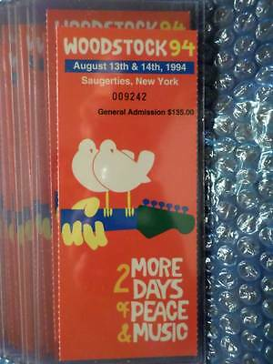 1994 WOODSTOCK Tickets Redeemed at Concert