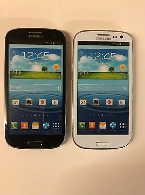 Lot of 2 Samsung Galaxy S3 Verizon Non-Working Display Dummy Phone White Blue