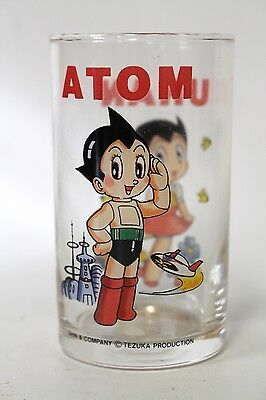 "Astro Boy Mighty Atom + Uran Collectible Glass, Tezuka Shin & Co. 4"" [A1]"