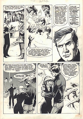 The Six Million Dollar Man Magazine #2 p.35 Lee Majors 1976 art by Jack Sparling
