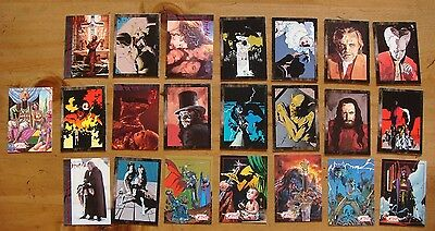 Bram Stoker's Dracula Movie Cards - Topps 1992 - Lot of 22 Cards - Mike Mignola