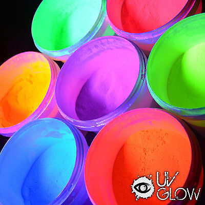 NEW 1X UV Glow Paint Party Powder Makes 25 litres Neon Run Raves Party