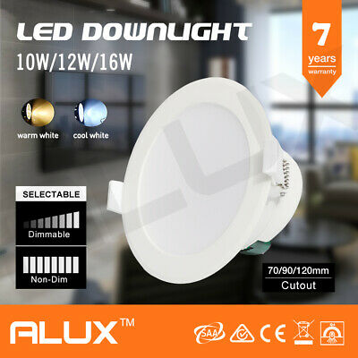10W 12W 16W Ip44 Dim Non-Dim Led Downlights Kit White Frame Warm/ Daylight White