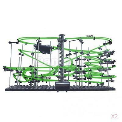 2x Marble Run Spacerail Level 4 Roller Coaster Building Toy Glow in the Dark 26M