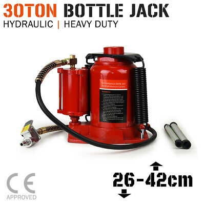 BOTTLE JACK - 30 TON Air & Manual Hydraulic - Car Truck SUV Trolley 4x4 Lift NEW