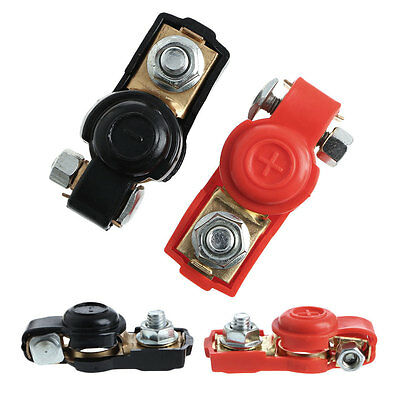 1 Pair Alloy Positive Nagative Car Battery Terminal Clamp Clips Connector New