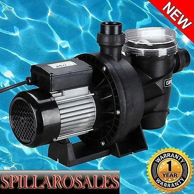 NEW Swimming Pool Pump Spa 1200W - In or Above Ground - Salt Water Chlorine
