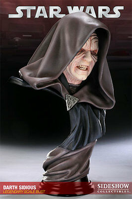 Star Wars Darth Sidious Legendary Scale Bust Sideshow ROTS