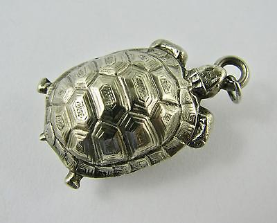 Antique Victorian  French Compass Fob 'Nickel Silver' Figural Turtle Tortoise