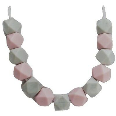 Silicone necklace for mum (was teething) Sensory pink BabyTapuu Jewellery