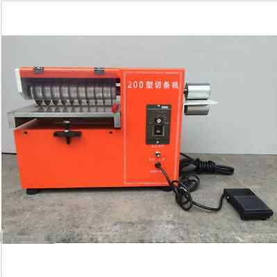 Speed Adjustable Leather Slitting machine Double-use Shoes Slitter Cutter 220 M@