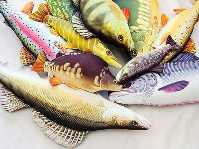 Gaby NEW Novelty Carp Pike Catfish Perch Gift Fishing Pillows *All Pillows*