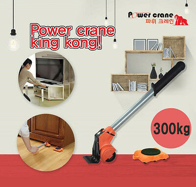 Power Crane Set Furniture Appliances Lifter Mover Rollers Casters wheels Home