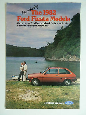 Introducing The 1982 Ford Fiesta Models Brochure