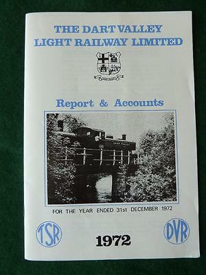 The Dart Valley Light Railway Limited Annual Report and Accounts 1972