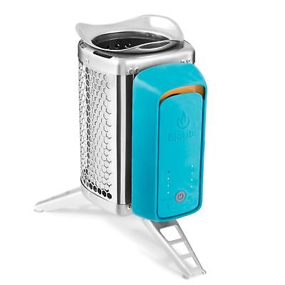 Biolite CookStove - Teal USB Port Camp Stove Wood Burner Camping Cooking