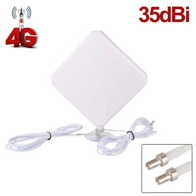 35dBi 4G LTE Dual MIMO Antenna Booster Aerial TS9 Plug Cable for Huawei BI622