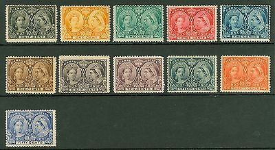 SG 121-134 Canada 1897 Jubilee issues. Values to 50c. Fine fresh mounted mint...