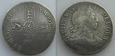 Collectable 1696 King William III Silver Crown