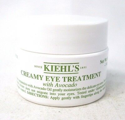 KIEHL'S CREAMY EYE TREATMENT WITH AVOCADO  ~ 0.5 oz ~