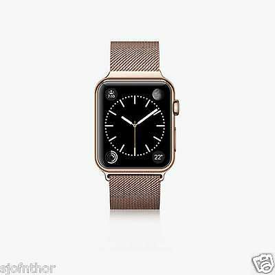 Apple Watch Bracelet Inox 38 mm Rosegold Milanaise Aimant avec