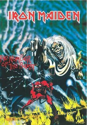"""Iron Maiden Flagge / Fahne """"number Of The Beast"""" Poster Flag Posterflag"""