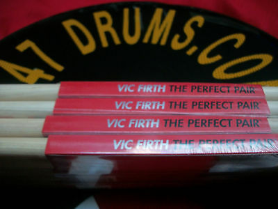 VIC FIRTH 5A wood tip 12 pairs for drums/cymbals-lowest price-1st quality freesh