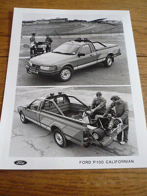 Ford P100 Californian  Press Release & Photo