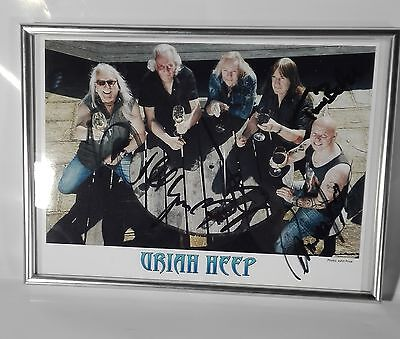 Uriah Heep Signed Picture in Frame - all members! Status Quo