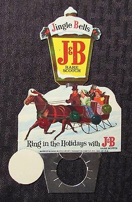 Jingle Bells - Ring In The Holidays With J&B RARE SCOTCH Bottle Topper NM 9.4