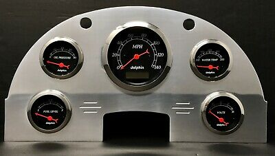 1956 Ford Car Gauge Cluster Black