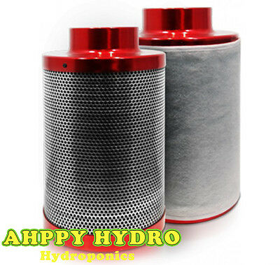 Red Scorpion 4 5 6 8 10 12 Inch Carbon Filter Hydroponics Environmental Control