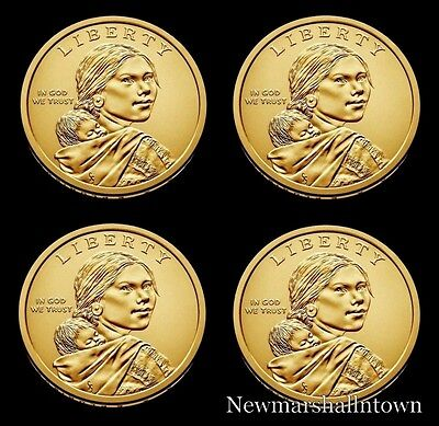 2016 2017 P+D Native American Sacagawea Business Strike from US Mint Roll