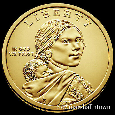 2017 P Native American Sacagawea Position B Business Strike from US Mint Roll