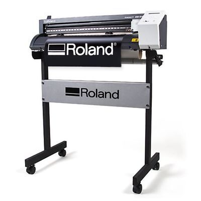 "Roland CAMM-1 GS 24"" Vinyl Cutter Plotter for Decals Heat Transfer Press Kit"
