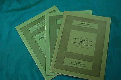3 Sotheby's Catalogs 1976 1979 South East Asian Chinese Ceramics Oriental Art