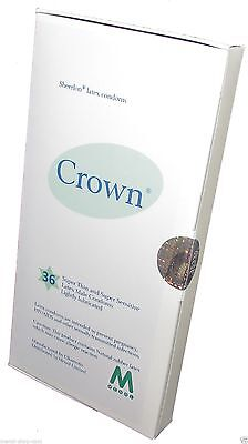 Crown Skinless Skin Condoms - The Thinnest Latex Condoms (Box of 36 pieces)
