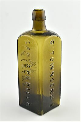 Antique Dr. Townsend's Sarsaparilla Albany NY Glass Bottle