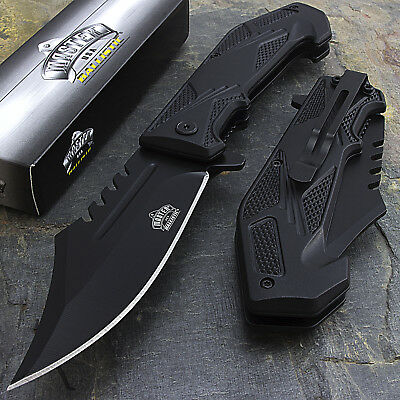 "10 x 8.5"" MASTER USA SPRING ASSISTED TACTICAL FOLDING POCKET KNIFE Open Assist"