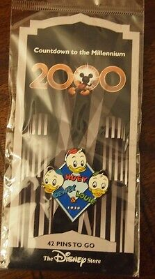 NEW Disney Store Countdown to the Millennium Pin Huey Dewey Louie 1938 #43